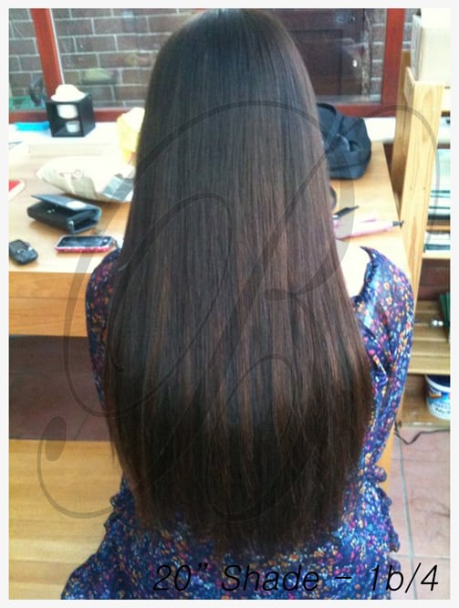 20 inch Shade 1b, 4 Hair Extensions