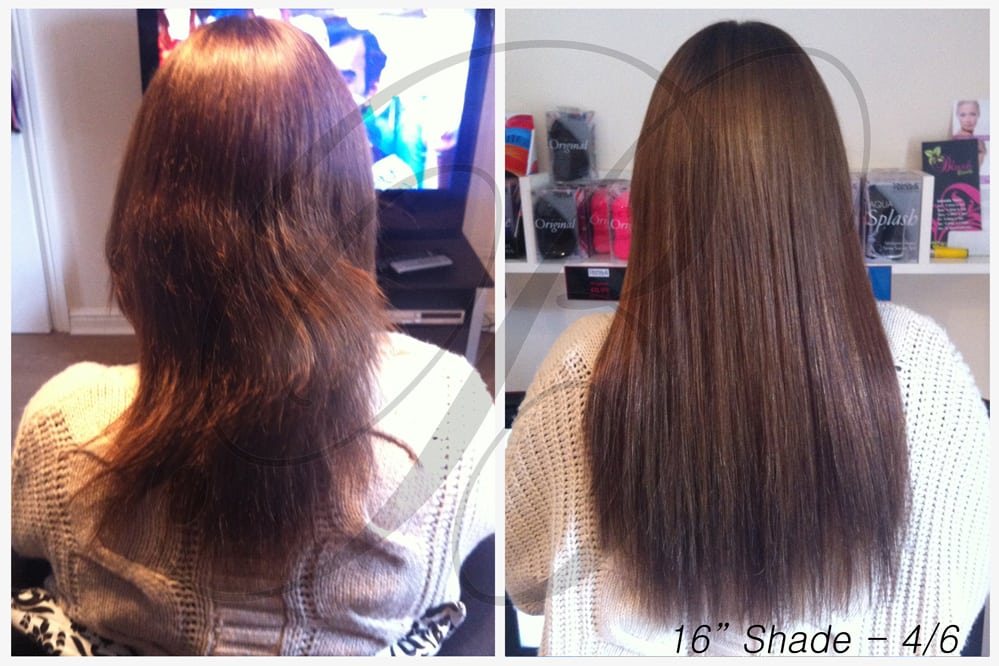 Shade 4, 6 Hair Extensions