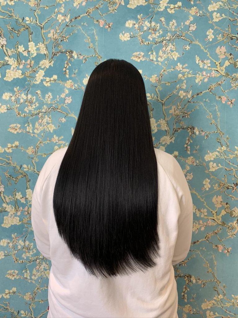 "18"" Black hair extensions by bond hair"