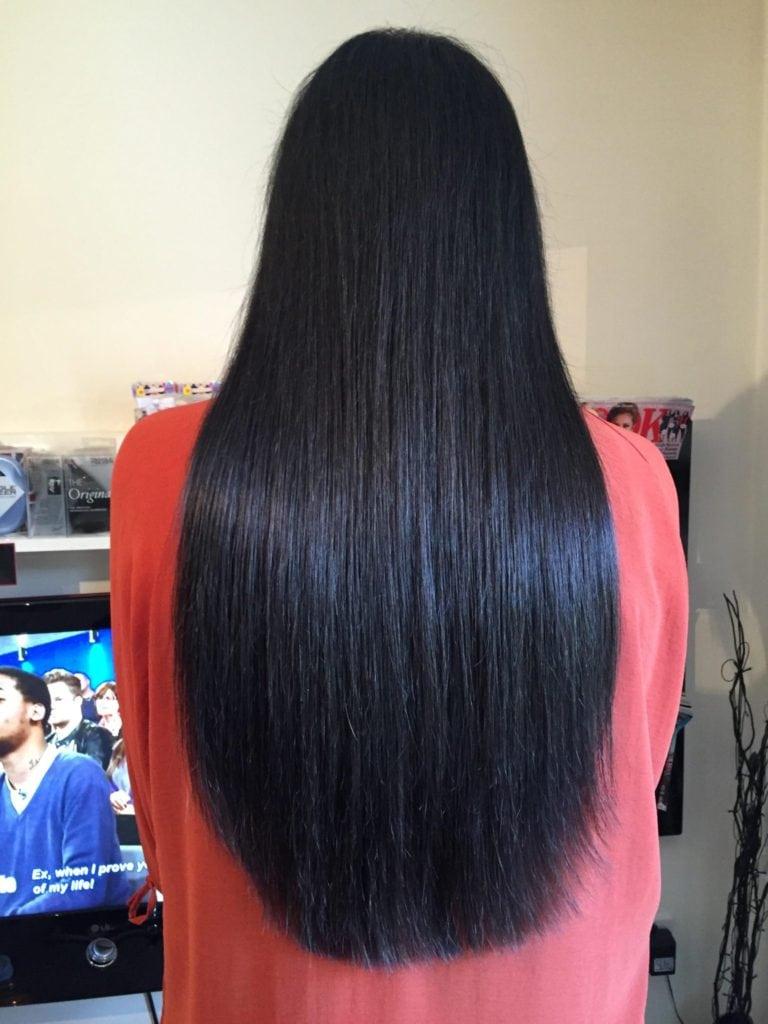 """20"""" Shade 1b natural black bond hair extensions"""