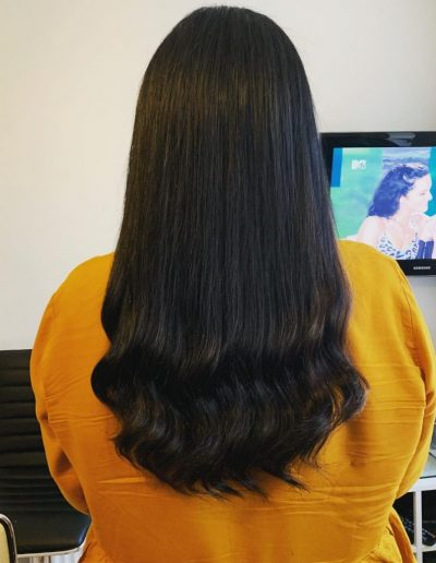 "16"" European hair extensions with natural wave"
