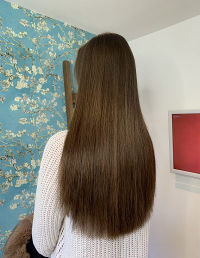 "brunette 18"" indian remy hair extensions in 18"""