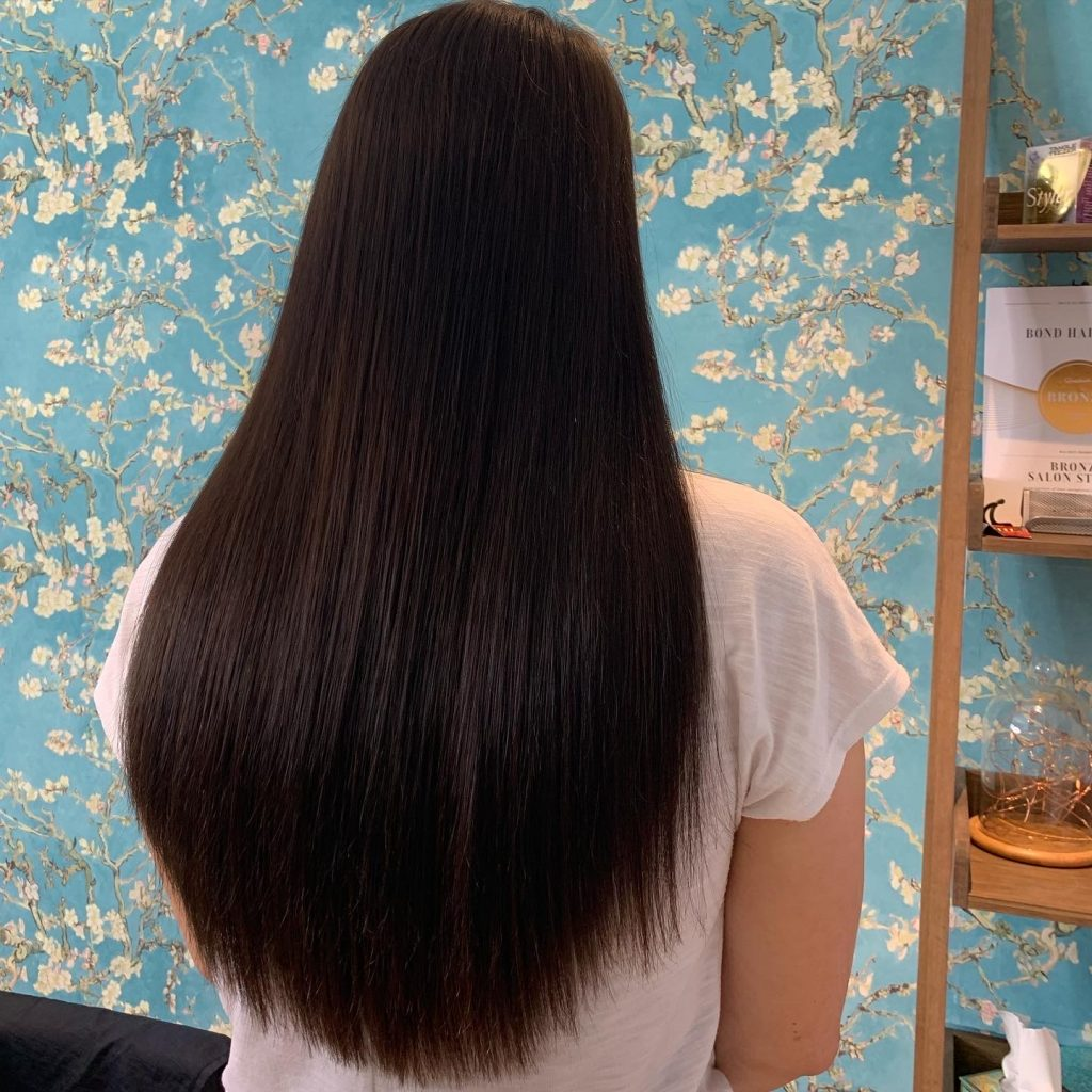 Shade 2 indian remy temple hair extensions