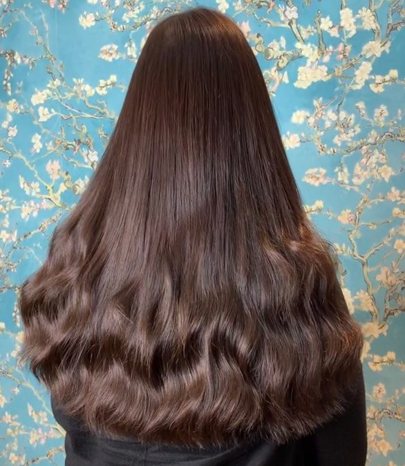 Brunette European Hair Extensions with Loose Wave