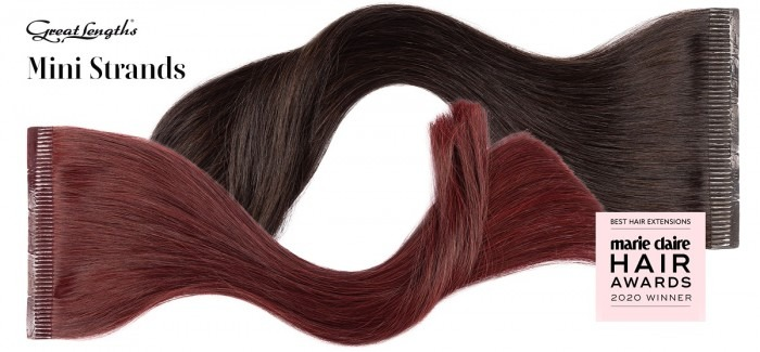 Flat bond hair extensions in the hair